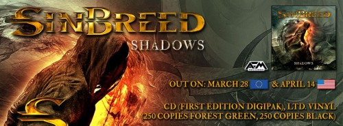 Sinbreed - Shadows Release Dates